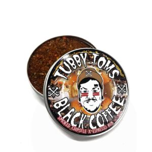 Tubby Tom's Black Coffee rub met chipotle en espresso