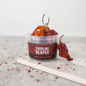 dried carolina reaper peppers