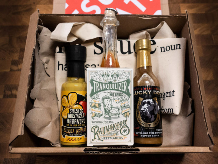 These were the 3 hot sauces in our Need For Heat January box
