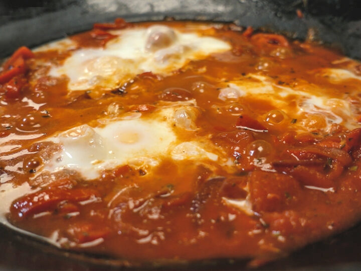 Spicy Shakshuka with Habanero & Coffee hot sauce