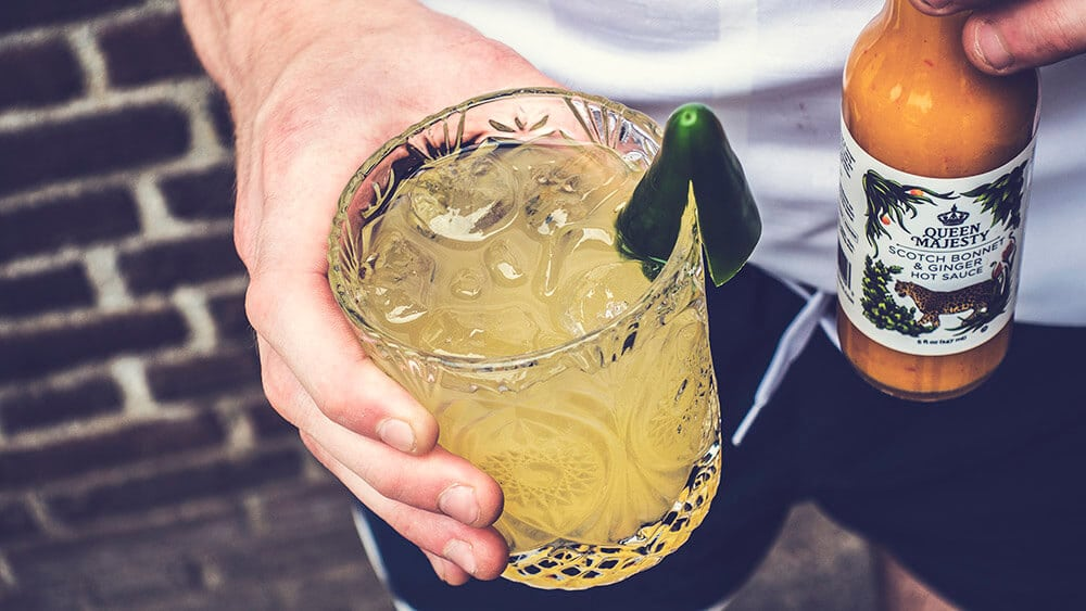 Image of a spicy moscow mule cocktail recipe