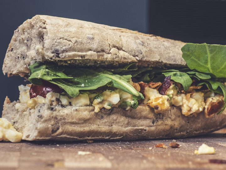Homemade Spicy Egg Salad Sandwich